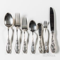 Towle Sterling Silver King Richard Pattern Flatware Service