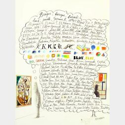 Saul Steinberg (American, 1914-1999)    ...Airmail...
