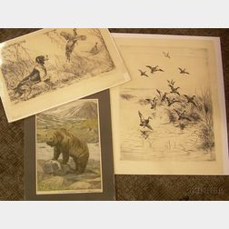 Three Unframed Sporting Prints