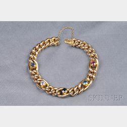 15kt Gold Gem-set Bracelet