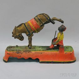 """Painted Cast Iron Mechanical """"I Always Did 'Spise A Mule Mechanical Bank,"""""""