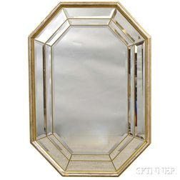 Octagonal Venetian Glass Mirror