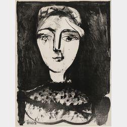 Pablo Picasso (Spanish, 1881-1973)      Tête de jeune femme