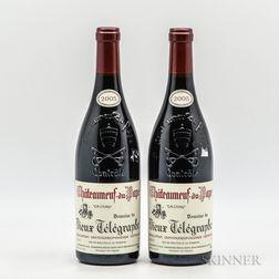 Vieux Telegraphe Chateauneuf du Pape La Crau 2005, 2 bottles
