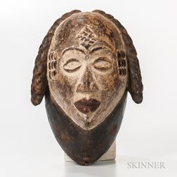 Punna-style Carved and Painted Wood Mask