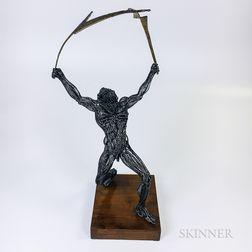 David Bennett Wirework Sculpture of Zeus