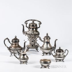 Six-piece Camusso Sterling Silver Tea and Coffee Service