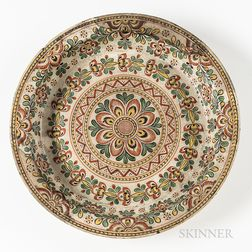 Polychrome Earthenware Dish