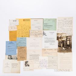 Twenty-three Letters and Autographs of 20th Century American Literary Figures.