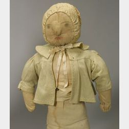Large Primitive Rag Doll with Inked Features