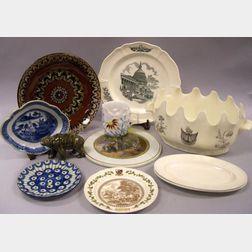 Seven Pieces of Assorted English Ceramics and Four Assorted Ceramic Items