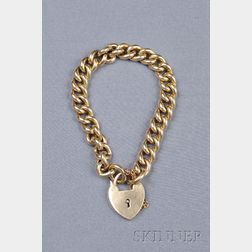 15kt Gold Padlock Bracelet
