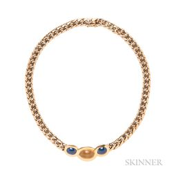 18kt Gold, Citrine, and Sapphire Necklace, Bulgari