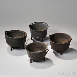 Four Cast Iron Pots
