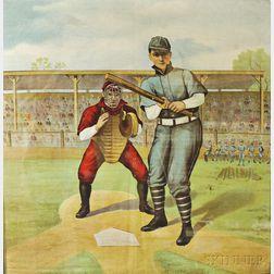 Framed Baseball-themed Textile