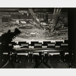 Abelardo Morell (Cuban/American, b. 1948)      Camera Obscura Image of Boston View Looking Southeast in Conference Room