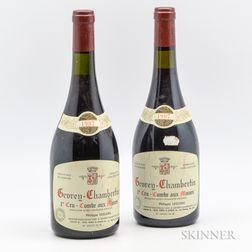 P. Leclerc Gevrey Chambertin Combe aux Moines 1987, 2 bottles