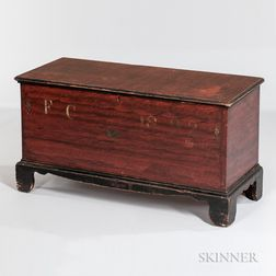 Small Paint-decorated Blanket Chest