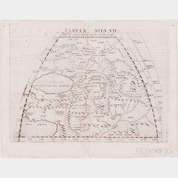 Asia. Ptolemy (c. 100-c. 170 AD); Girolamo Ruscelli (1518-1566) Seventeen Engraved Maps.