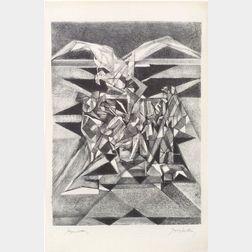 Jacques Villon (French, 1875-1963)    L'Aigle Quitte Prométhée
