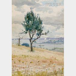 J. Ambrose Prichard (American, 1858-1905)      View to Duxbury Harbor