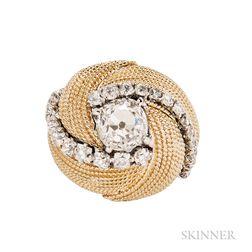 18kt Gold and Diamond Turban Ring, David Webb
