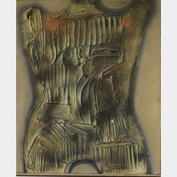 Dario Villalba  (Spanish, b. 1939)      Torso Mineral #4