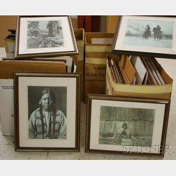 Fifty-eight Framed Offset Prints After Edward S. Curtis