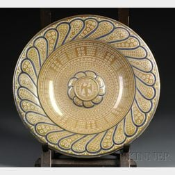 Cantagalli Hispano Moresque-style Lustre-glazed Ceramic Charger
