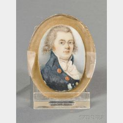 British School, Late 18th/Early 19th Century      Portrait Miniature of a Gentleman