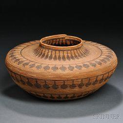 Yokuts Bottleneck Basketry Bowl