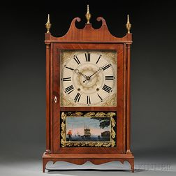 Eli Terry Jr. Pillar and Scroll Shelf Clock