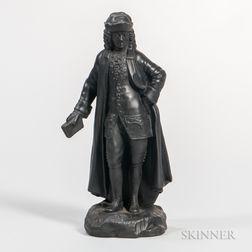 Wedgwood Black Basalt Figure of Voltaire