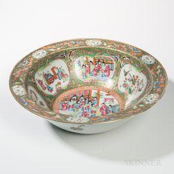 Large Rose Medallion Export Porcelain Basin