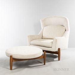 Jens Risom (Danish/American, 1916-2016) Big Chair and Ottoman