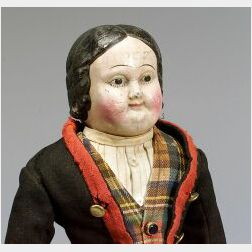 Early American Rubber Shoulder Head Doll