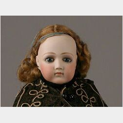 Early Portrait Jumeau Bisque Head Lady Doll