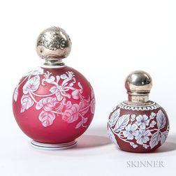 Two English Cameo Glass Perfume Bottles