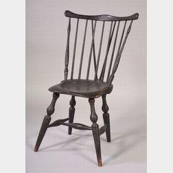 Windsor Painted Fan-back Braced Side Chair
