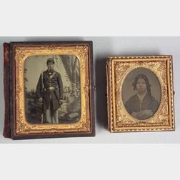 Ruby Ambrotype of a Union Private