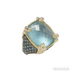 18kt Gold Gem-set Ring, Judith Ripka