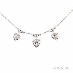 18kt White Gold and Diamond Pendants