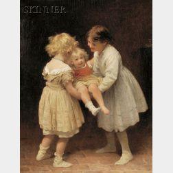 John Morgan (British, 1823-1886)      Kinder at Play