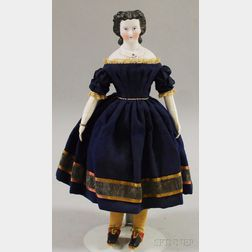 Black-haired Parian Lady Doll