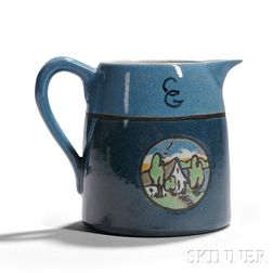 Saturday Evening Girls Decorated Pottery Pitcher