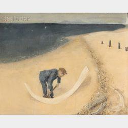 John Masteller (American, b. 1913)      Man on Beach