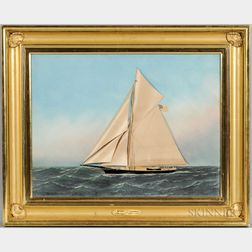 Thomas H. Willis (American, 1850-1925) and Antonio Jacobsen (American, 1850-1921)      Racing Yacht