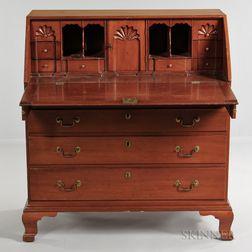 Carved Cherry Slant-lid Desk