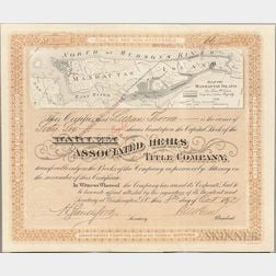 Harlem Associated Heirs Title Company Certificate, 1892.