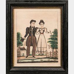 James R. Osborne (Portland, Maine, fl. 1827-1832)      Portrait of a Man and Wife